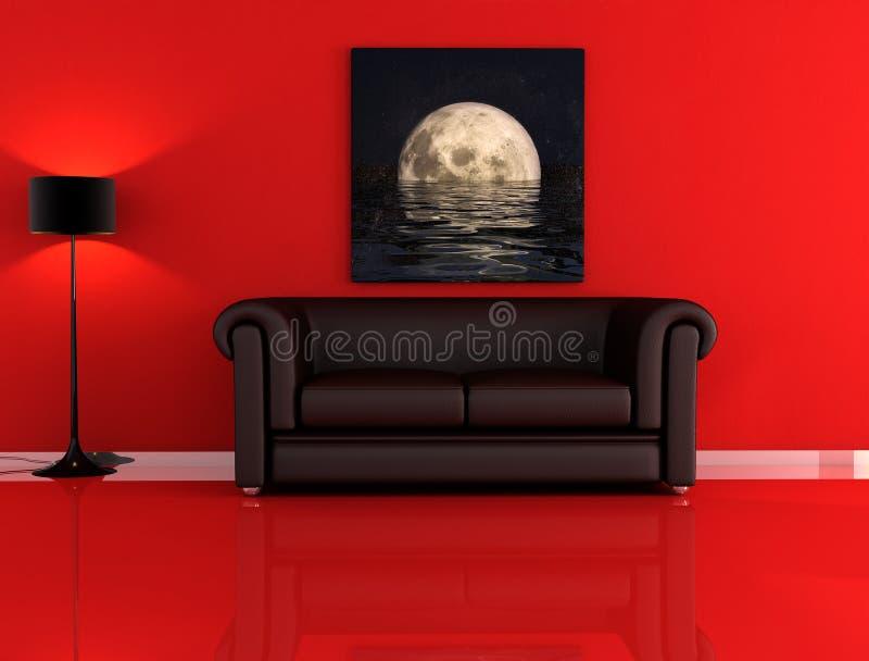 черная красная комната бесплатная иллюстрация