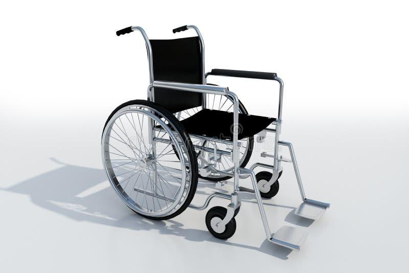 черная кресло-коляска металла иллюстрация штока