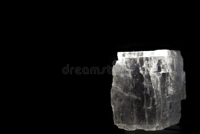 черная кристаллическая каменная соль стоковое изображение