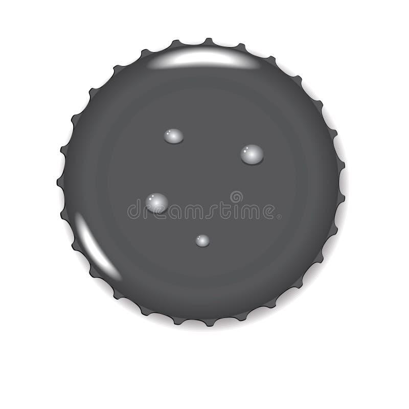 Черная крышка бутылки бесплатная иллюстрация