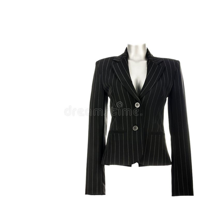 Черная куртка блейзера ` s бизнес-леди элегантная стоковые фотографии rf