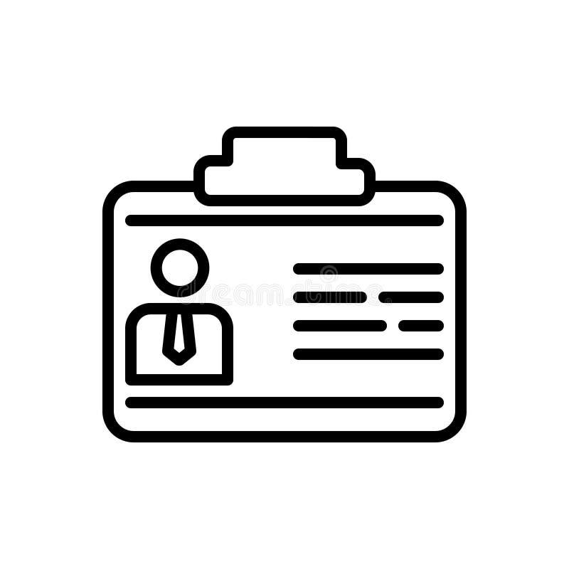 Черная линия значок для деловых контактов, контакт и новые добавляют бесплатная иллюстрация