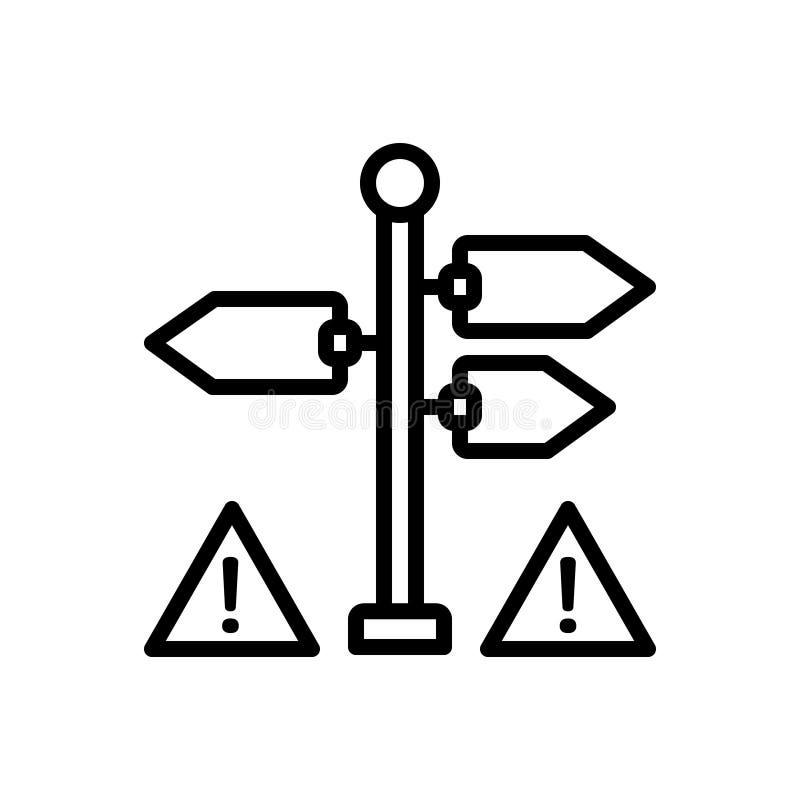 Черная линия значок для знака, индикации и жеста бесплатная иллюстрация