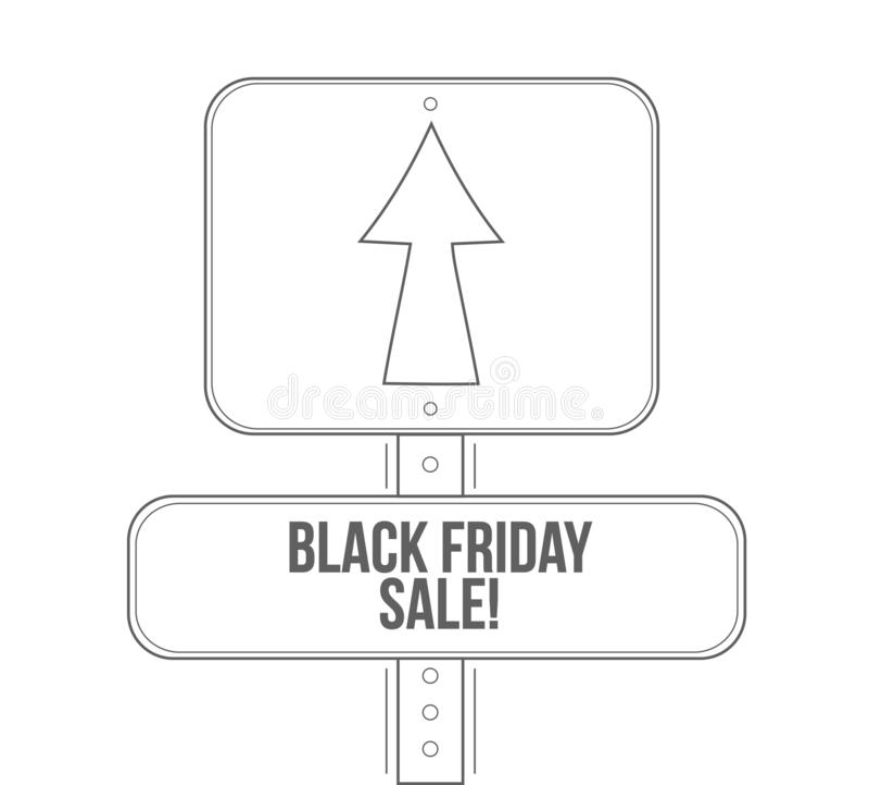 Черная линия изолированный знак продажи пятницы улицы бесплатная иллюстрация