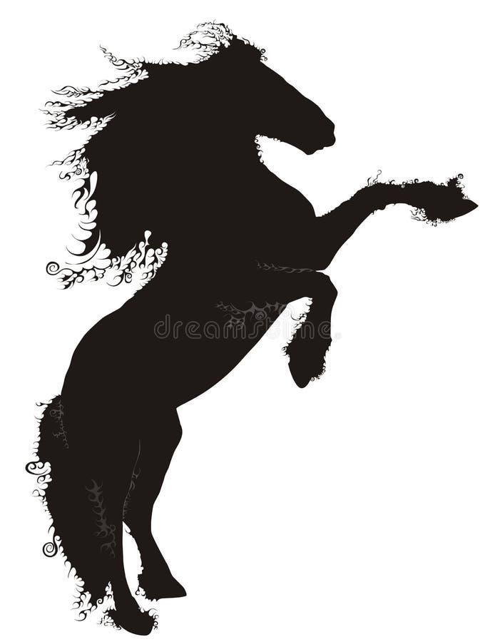 черная лошадь иллюстрация вектора