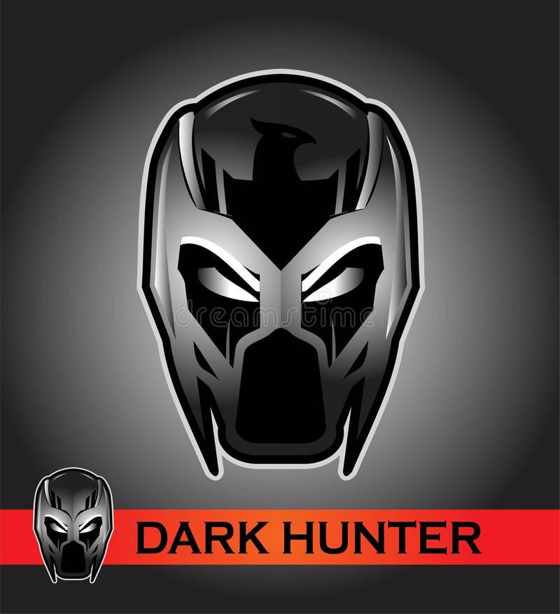черная маска гонщик Всадник Пилот супергерой злодейка иллюстрация штока
