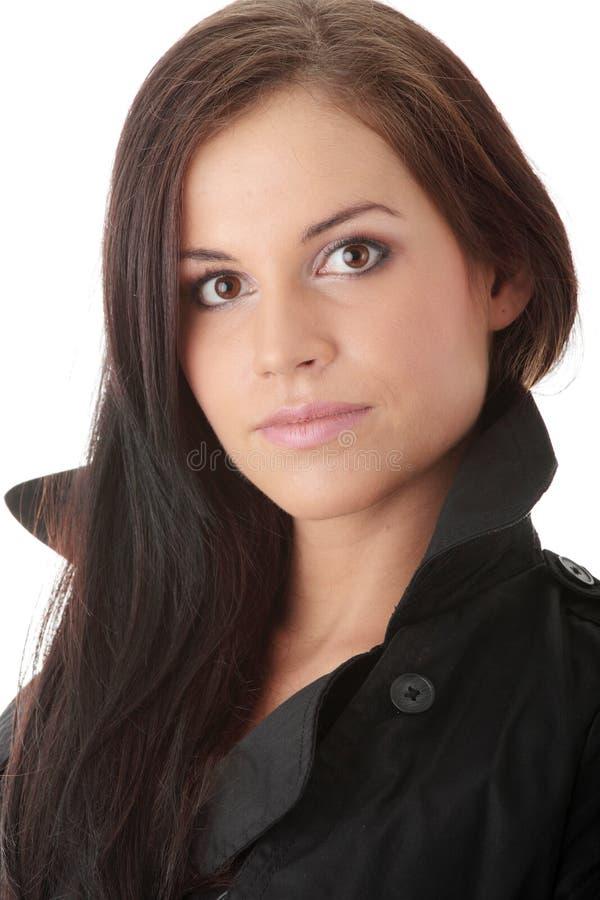 черная модель способа пальто стоковые изображения rf