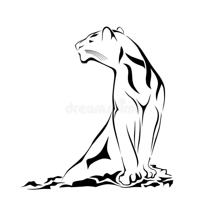 черная пантера фиоритуры иллюстрация вектора