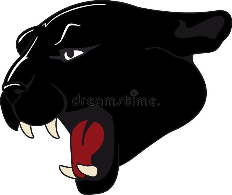 черная пантера иллюстрация вектора
