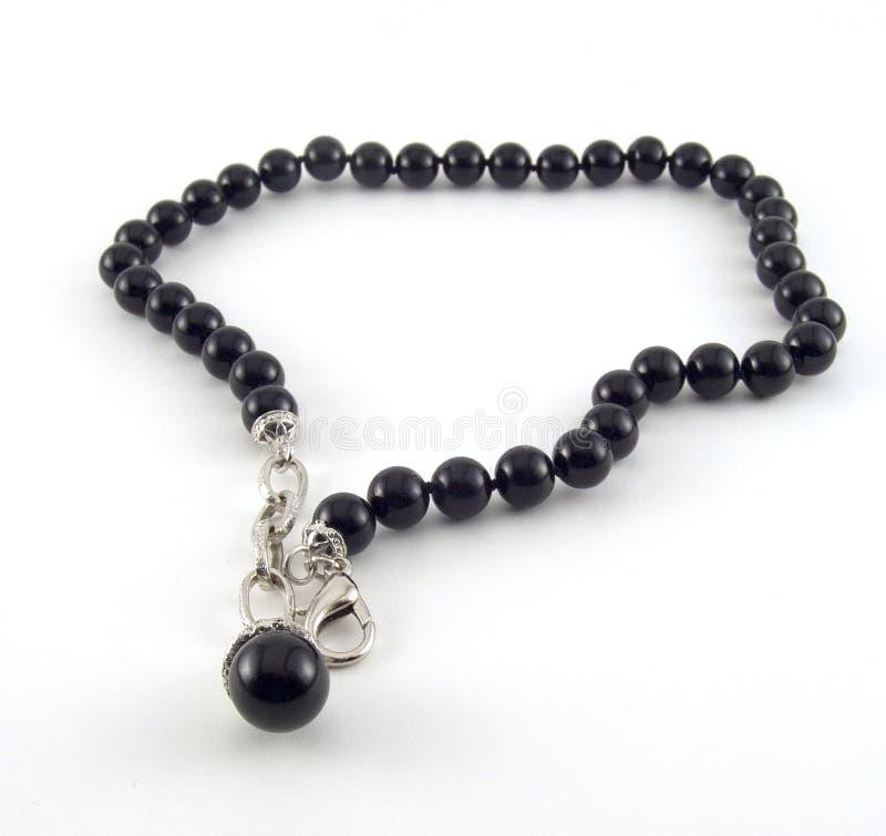 черная перла ожерелья стоковые изображения rf