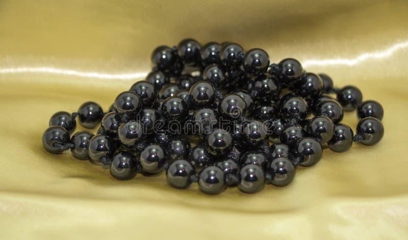 черная перла ожерелья стоковая фотография
