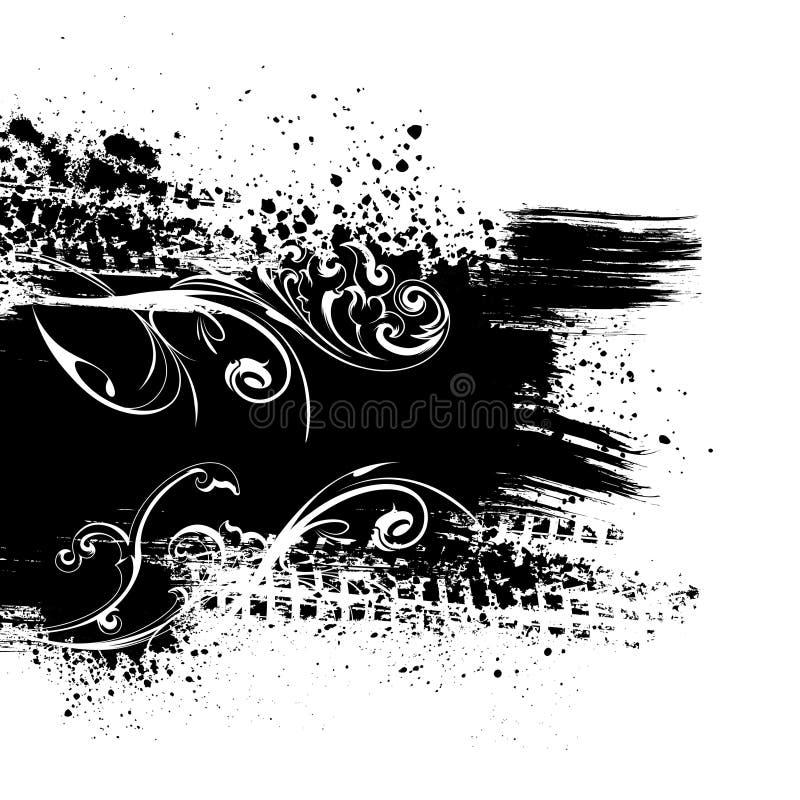 Черная предпосылка выплеска бесплатная иллюстрация
