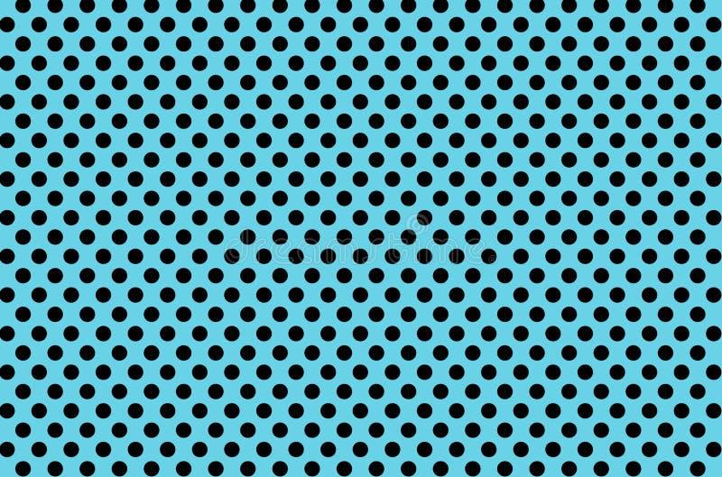 Черная предпосылка картины точек польки безшовная r иллюстрация вектора