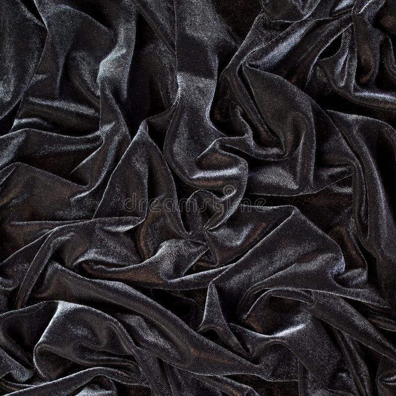 Черная предпосылка крупного плана drapery стоковое изображение rf