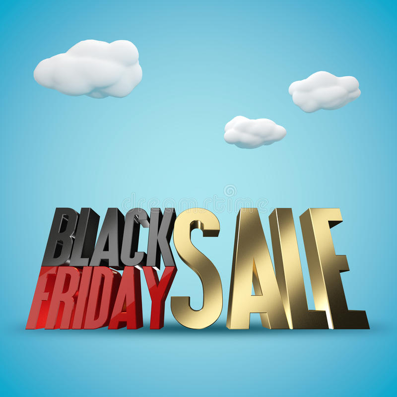 Черная предпосылка перевода продажи 3d пятницы бесплатная иллюстрация