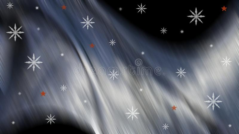Черная предпосылка рождества и зимы иллюстрация штока