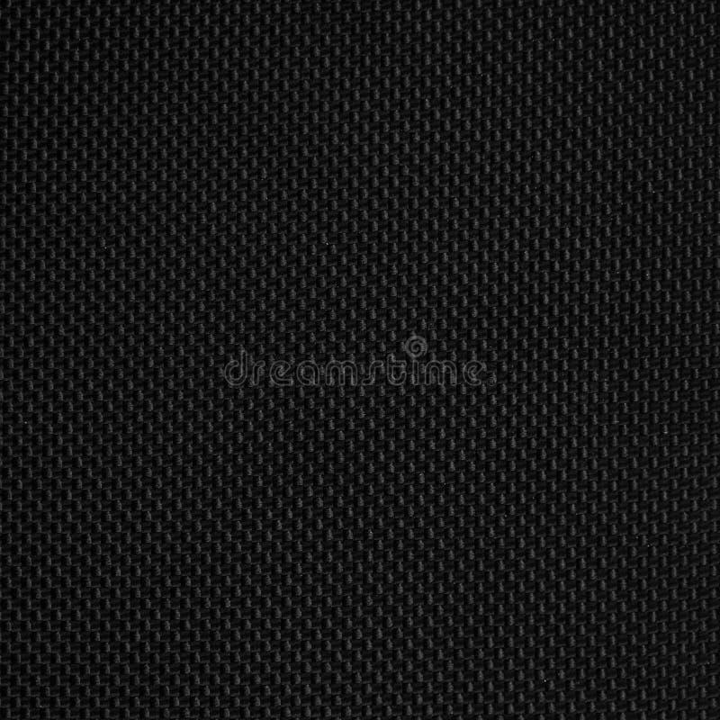 Черная предпосылка текстуры синтетической ткани стоковые изображения rf