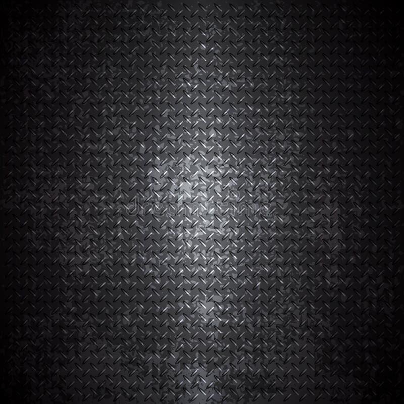 Черная предпосылка grunge металла иллюстрация вектора