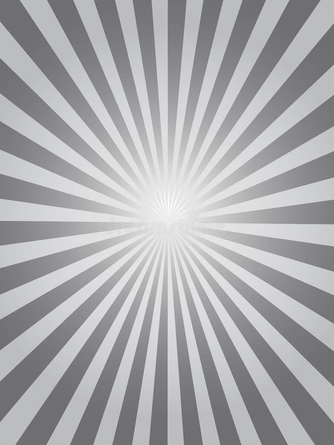 Черная предпосылка sunburst иллюстрация вектора