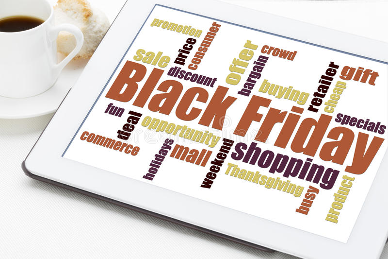 Черная принципиальная схема покупок пятницы стоковые фото