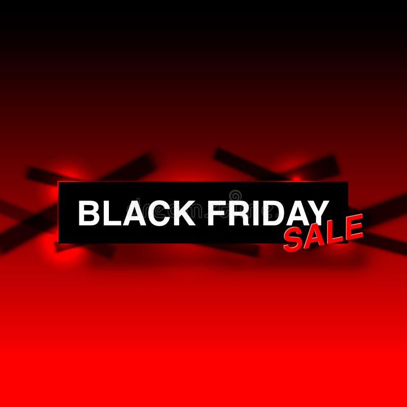 Черная продажа пятницы большая, сезонные продажи знамени бесплатная иллюстрация