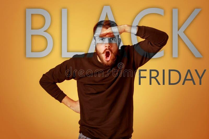Черная продажа пятницы - концепция покупок праздника стоковая фотография rf