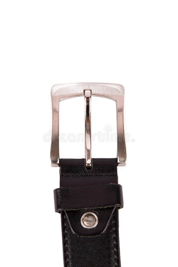 Черная пряжка кожаного пояса стоковые фотографии rf