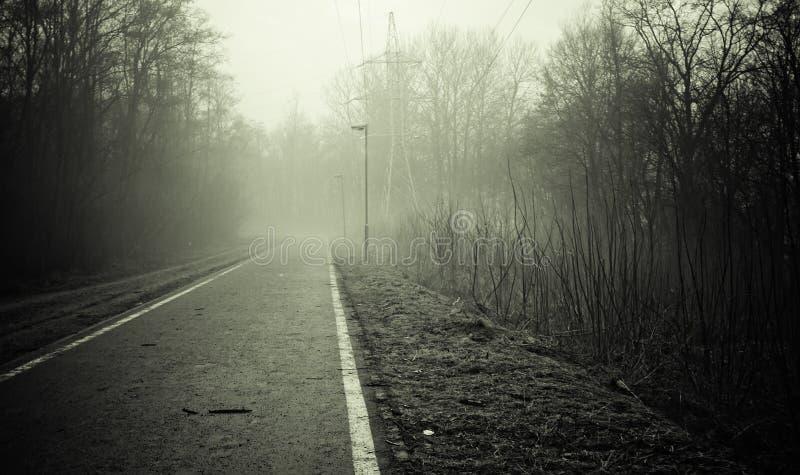 черная пустая белизна дороги стоковое изображение