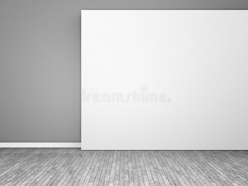 черная пустая белизна комнаты иллюстрация вектора
