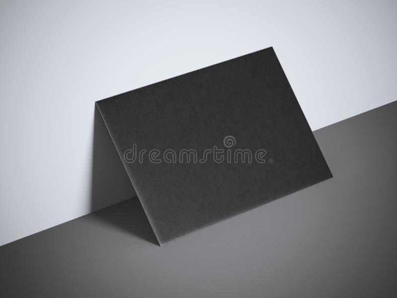 Черная пустая визитная карточка стоковая фотография