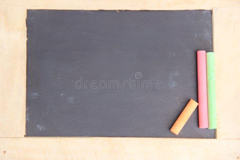 Черная пустая доска для космоса экземпляра стоковые фотографии rf