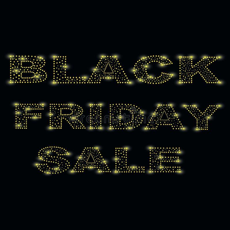 Черная пятница одна из самых ярких пятниц года, дня скидок и продаж Яркая пятница года иллюстрация вектора