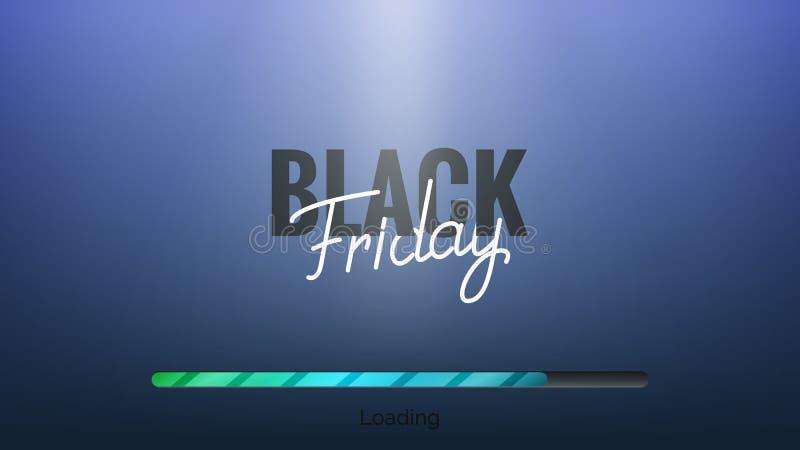 черная пятница Рука помечая буквами черный бар пятницы и загрузки Знамя продажи зимы сезонное бесплатная иллюстрация