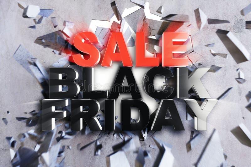Черная пятница, сообщение продажи для магазина Знамя магазина дела ходя по магазинам на черная пятница Черная пятница задавливая  бесплатная иллюстрация