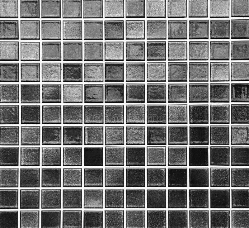 Черная плитка мозаики стоковая фотография