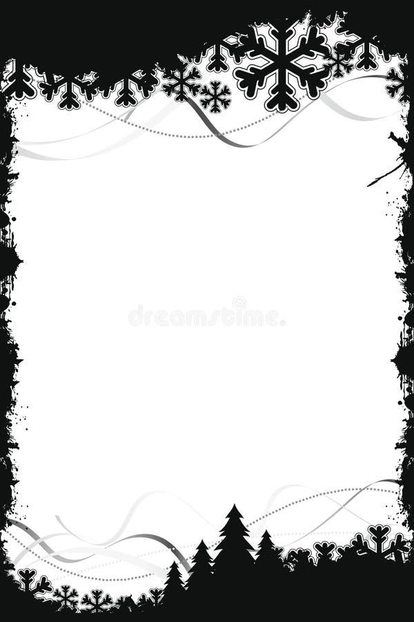 черная рамка рождества иллюстрация вектора