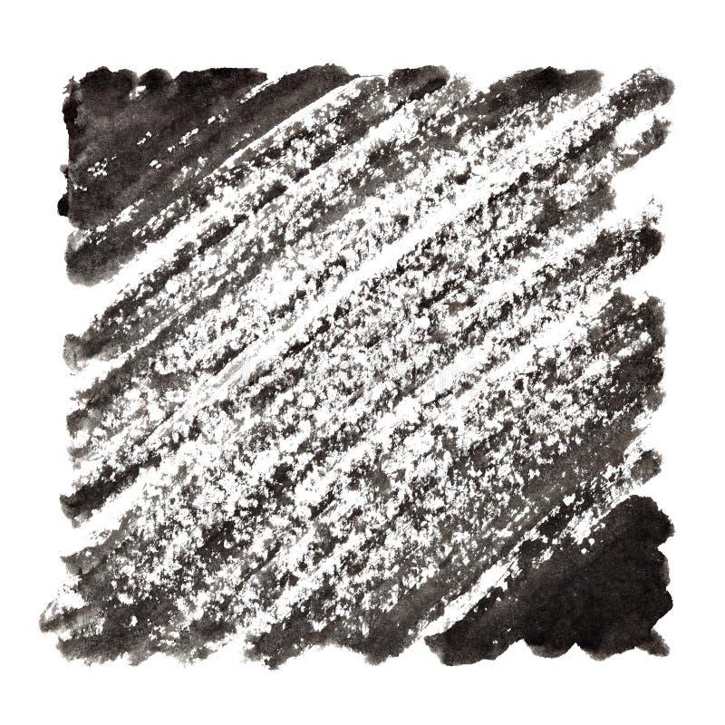 Черная рамка с ходами чернил иллюстрация штока