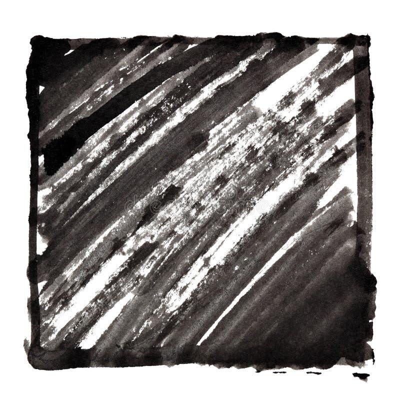 Черная рамка с shading чернил иллюстрация вектора