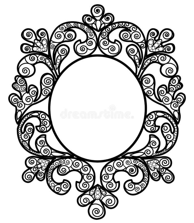 Download черная рамка иллюстрация вектора. иллюстрации насчитывающей бело - 40579285