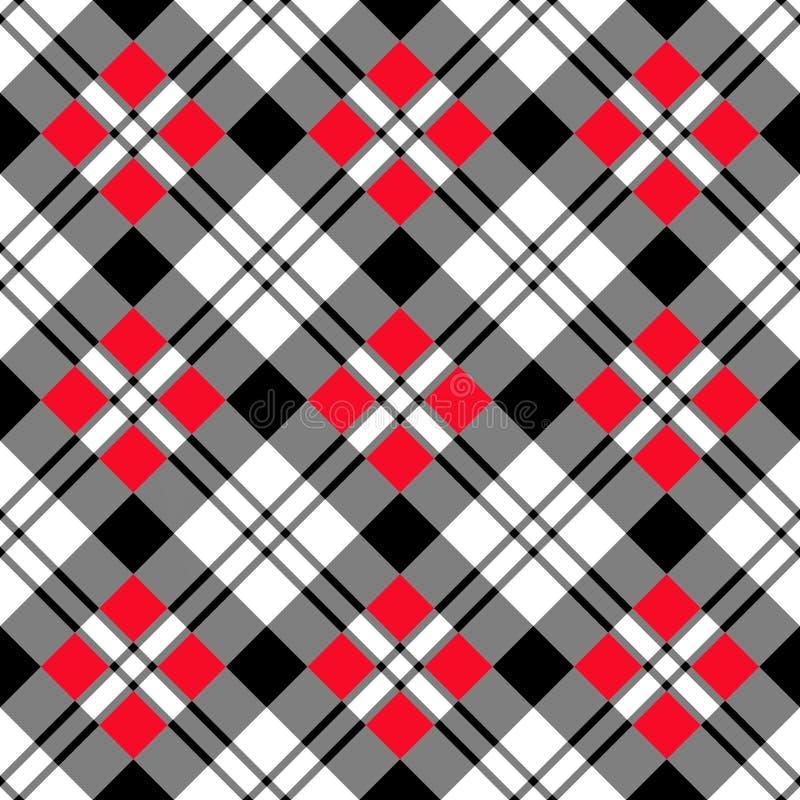 черная раскосная красная белизна иллюстрация вектора
