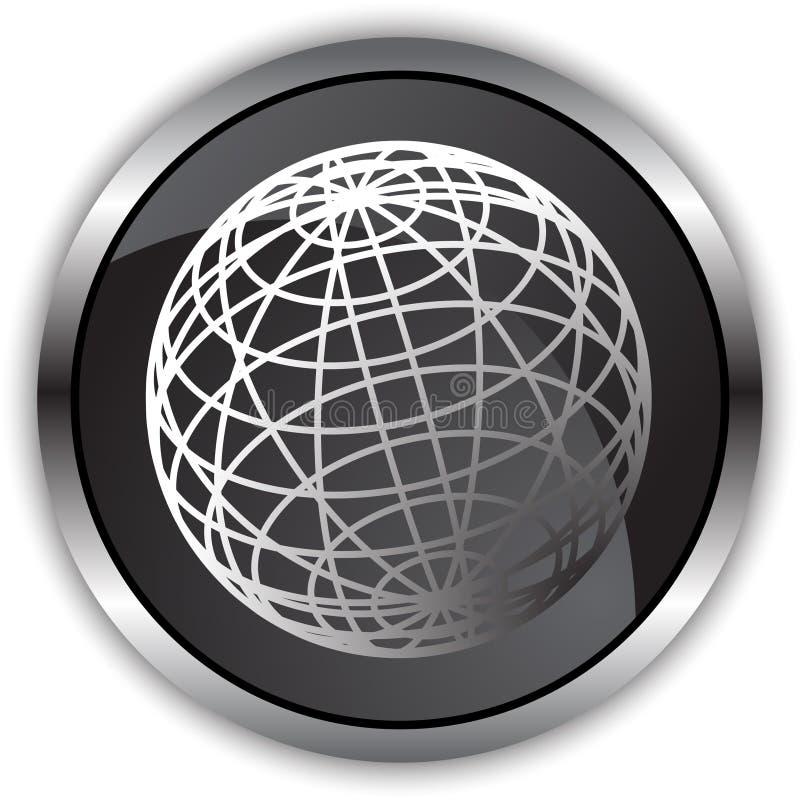 черная сатинировка глобуса бесплатная иллюстрация