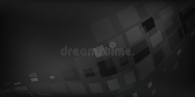 Черная серая абстрактная предпосылка проиллюстрировала графики с коробками освещения бесплатная иллюстрация