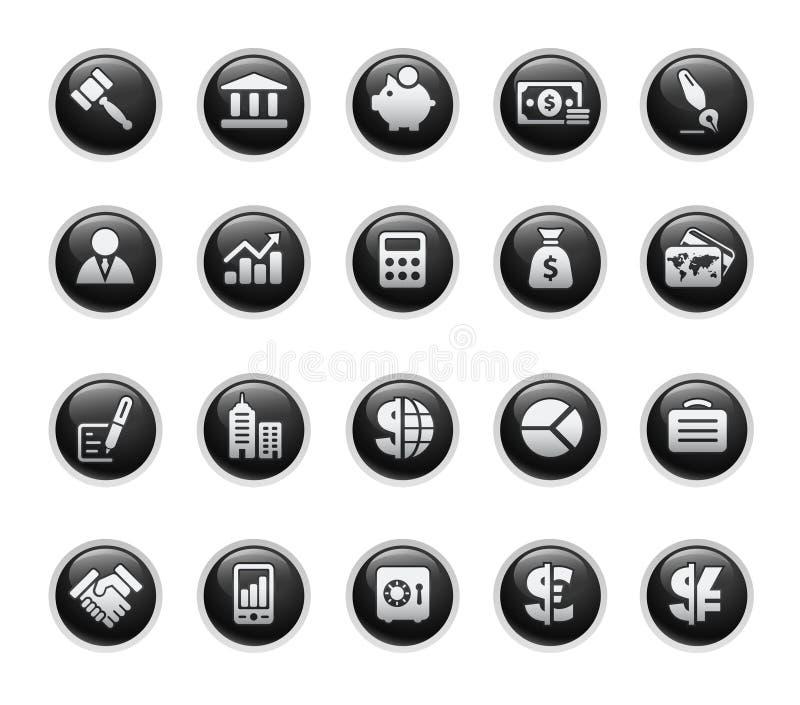 черная серия ярлыка финансов дела иллюстрация вектора