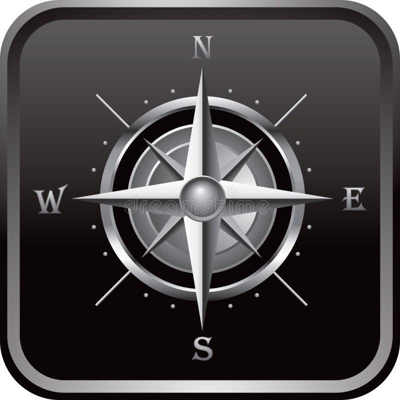 черная сеть компаса кнопки бесплатная иллюстрация