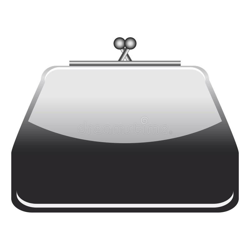 черная сеть портмона иконы стоковое фото rf