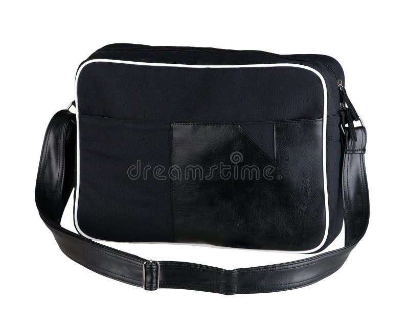Черная сумка компьтер-книжки ткани стоковая фотография rf