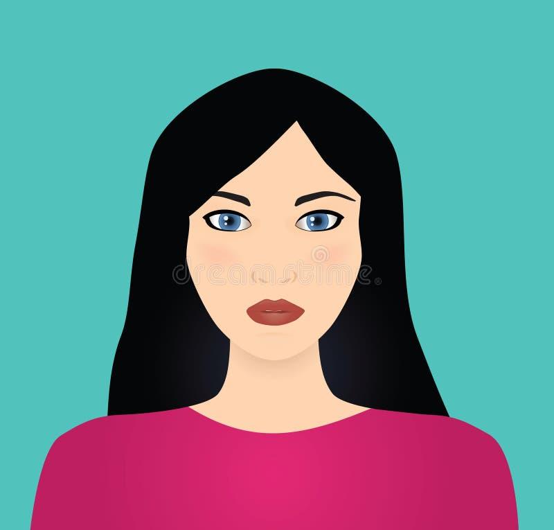 Download черная с волосами женщина вектора Иллюстрация вектора - иллюстрации насчитывающей женственно, невиновность: 6857149