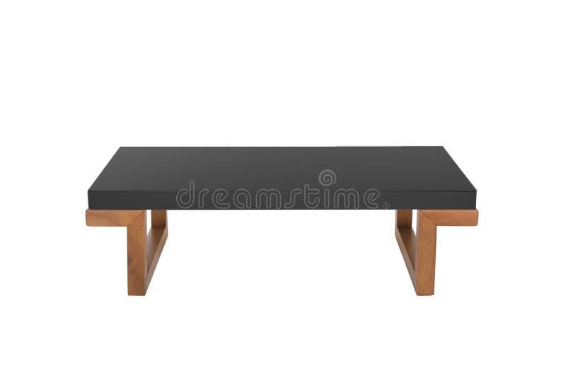 Черная таблица изолированная на белизне стоковое фото rf