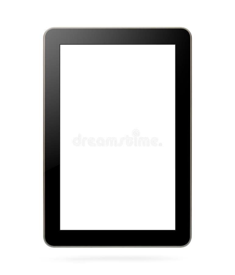 Черная таблетка с пустым экраном иллюстрация штока