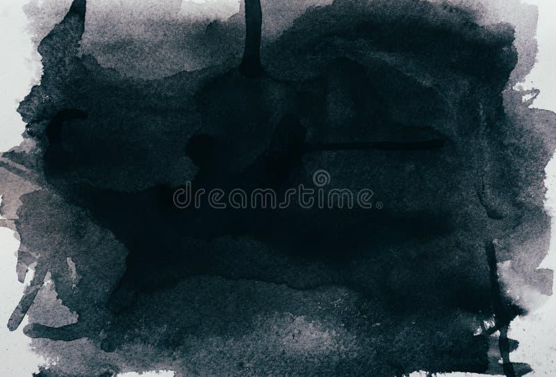 Черная текстура акварели стоковые фотографии rf